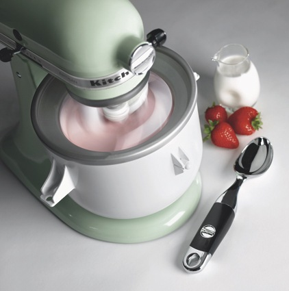 Stand mixer ice cream maker attachments.
