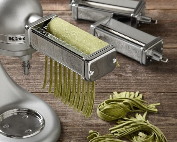 Kitchenaid stand mixer pasta attachment.